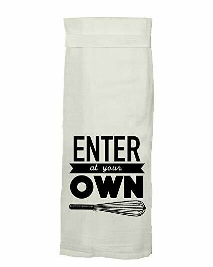 Enter At Own Whisk Hang Tight Towel By Twisted Wares