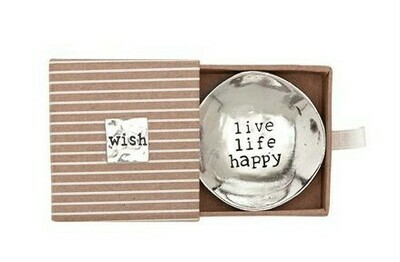 'Live Life' Metal Dish By Mudpie