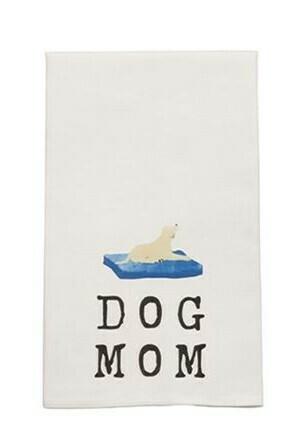 Yellow Dog Dish Towel By Mudpie