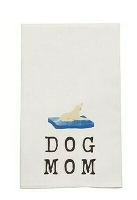 Yellow Dog Dish Towel By Mudpie