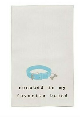 Dog Collar Wine Towel By Mudpie