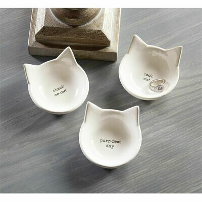 Cool Cat Trinket Dish by Mudpie