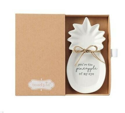 'Pineapple Of My Eye' Boxed Mini Dish By Mudpie