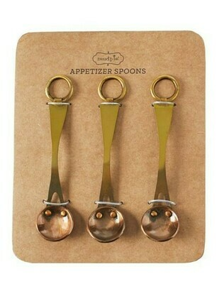 Brass Appetizer Spoons By Mudpie