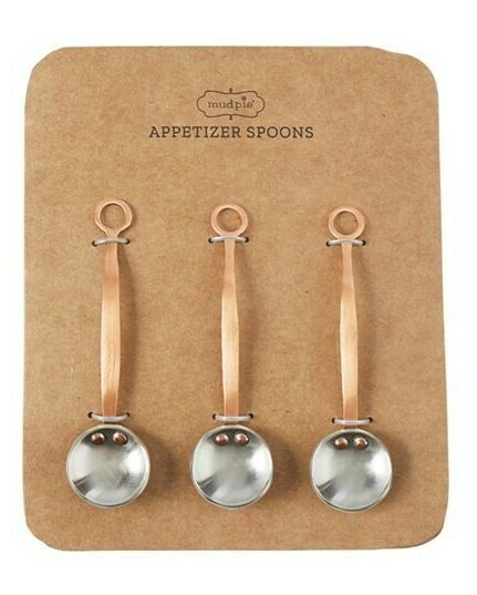 Copper Appetizer Spoons By Mudpie