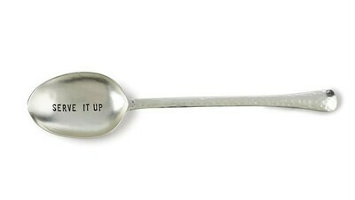Hammered Serving Spoon By Mudpie