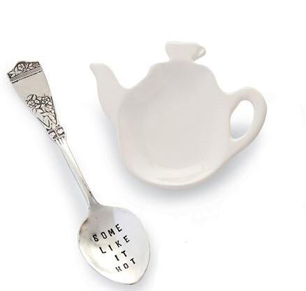 'Some Like It Hot' Tea Bag Spoon Set by Mud Pie