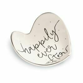 Happily Heart Shaped Trinket Dish By Mud Pie