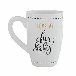 I Love My Fur Baby Mug By Mudpie