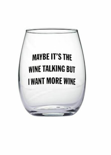 Maybe Wine Stemless Wine Glass By Snark City
