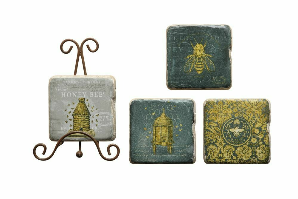 Bee Coasters By Creative Co-op