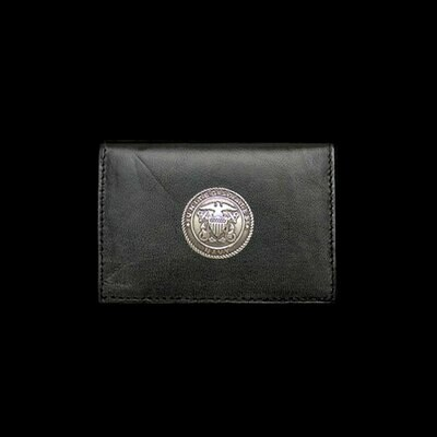 Navy Leather Business Card Holder By Jim