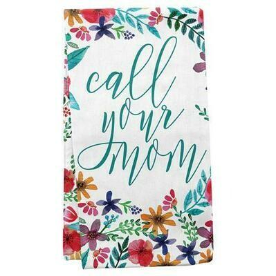 Call Your Mom Tea Towel By Karma