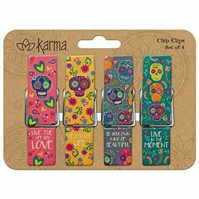 Sugar Skull Chip Clips By Karma