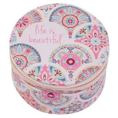 Life Is Beautiful Round Case By Karma