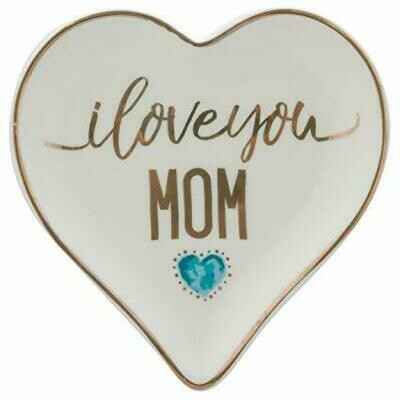 I Love You Mom Heart Dish By Karma