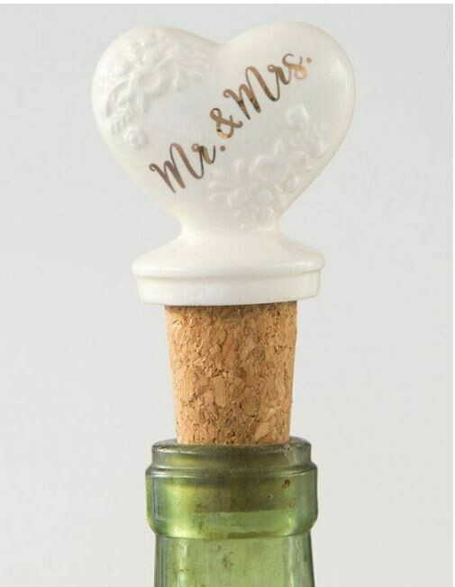 Mr Mrs Bottle Stopper By Natural Life