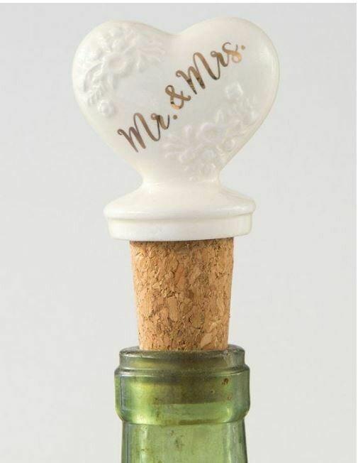 Mr. & Mrs. Bottle Stopper By Natural Life