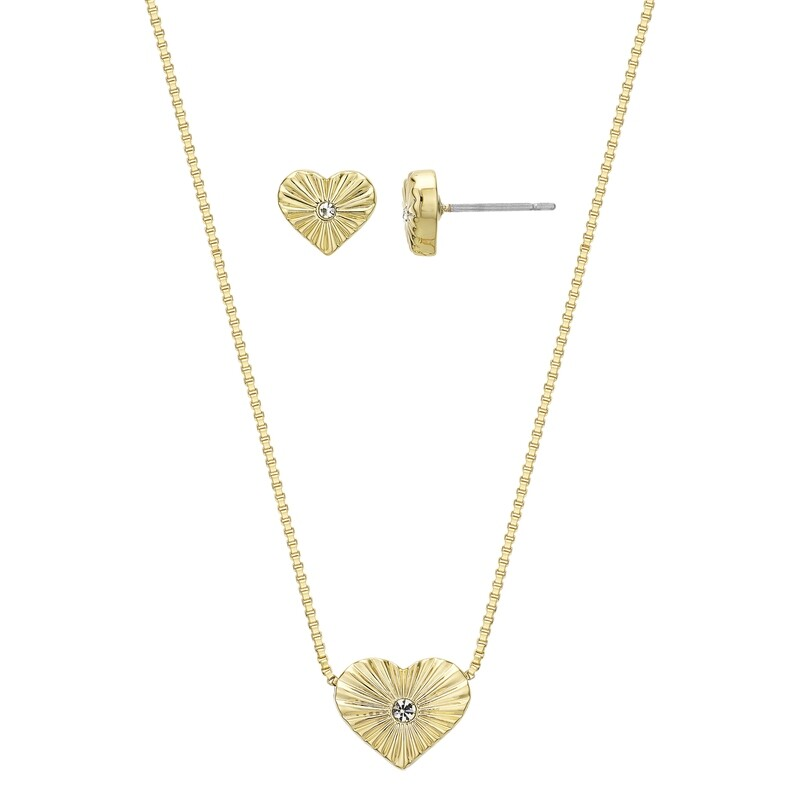 Heart of Gold Earring and Pendant Set