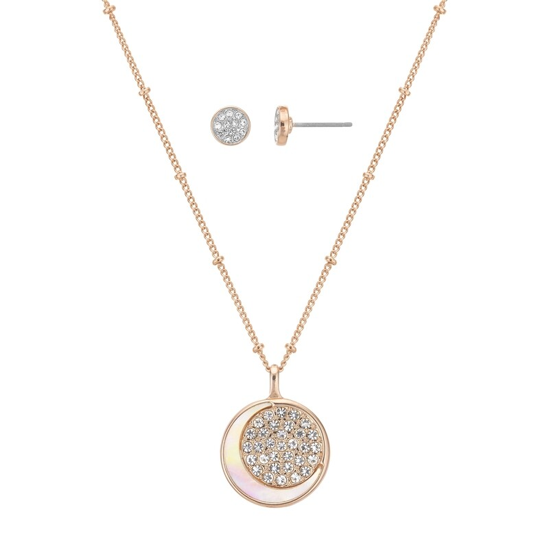 To The Moon and Back Earring and Pendant Set