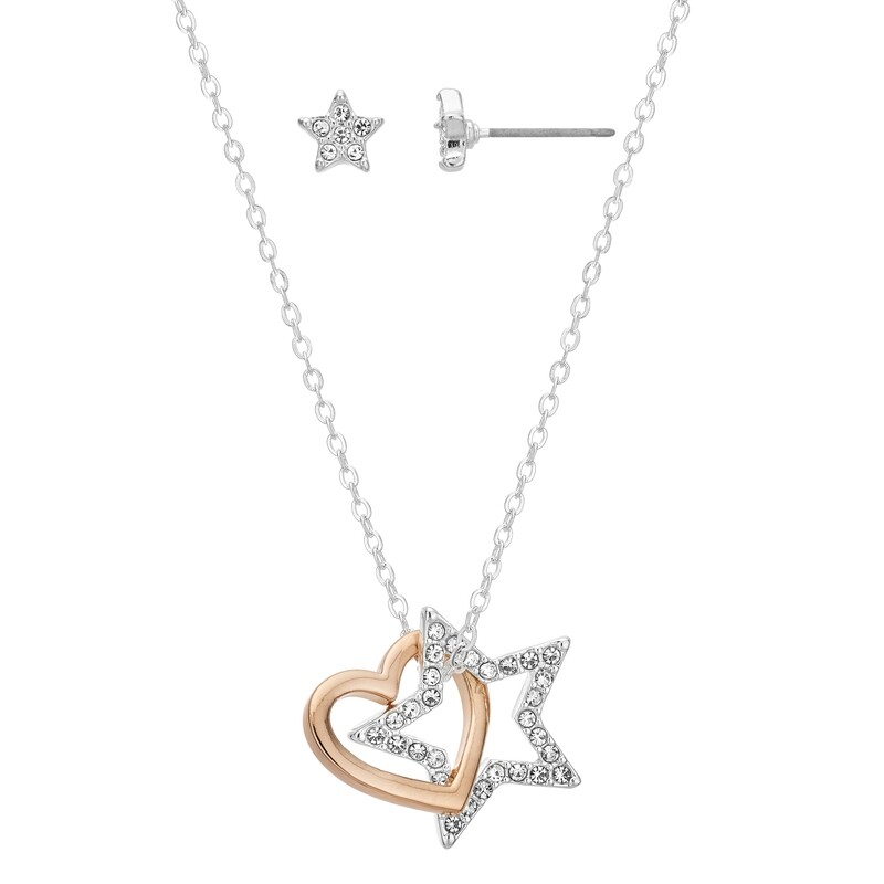 Wish Upon A Star Earring and Pendant Set