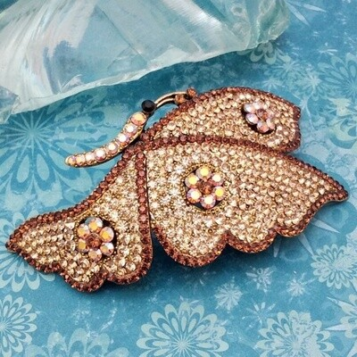 Stunning Swarovski Butterfly Hair Barrette