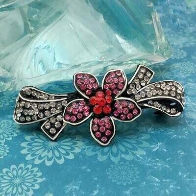 Crystal Flower And Bow Hair