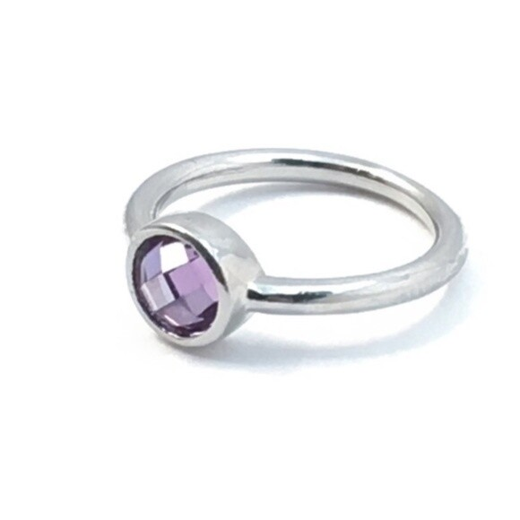 Purple Gemstone Ring Sz 6.5