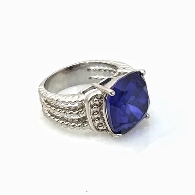 Blue Gemstone Ring Size 5