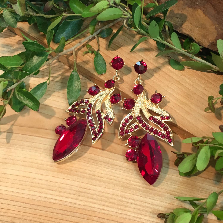 Red gold Chandelier Earrings