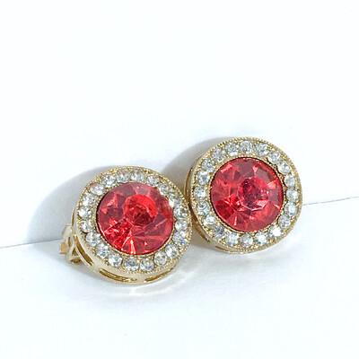 Crystal Clip Stud Earrings