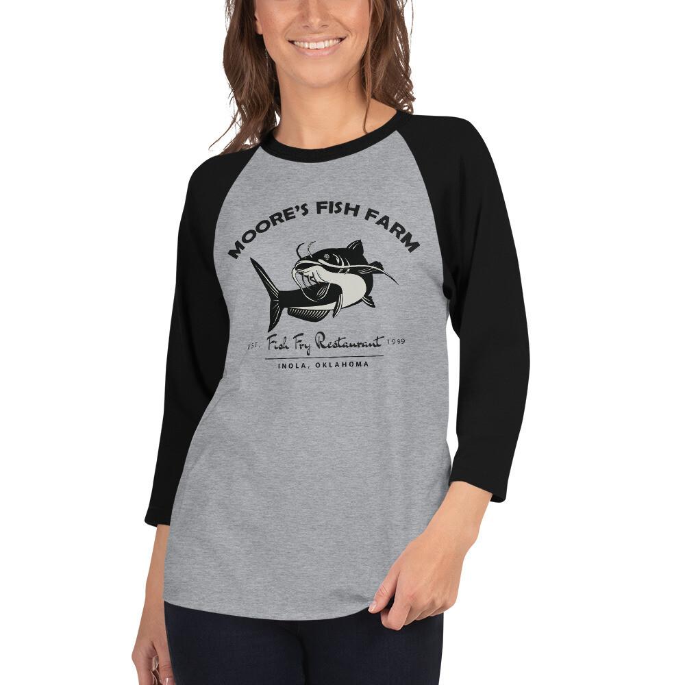 3/4 sleeve Raglan Unisex Fish Fry Shirt