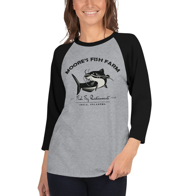 3/4 sleeve Raglan Unisex Fish Fry Shirt