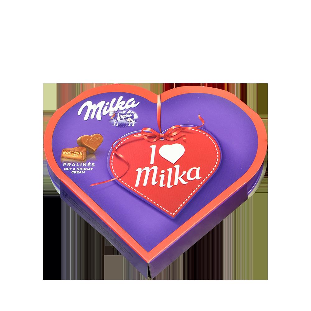 Čokoládové pralinky Milka
