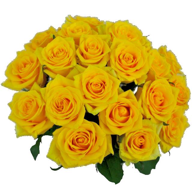 Žlté ruže v kytici