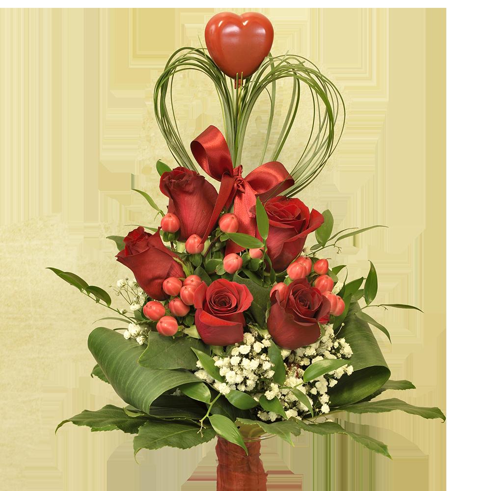 Ruže so srdiečkom
