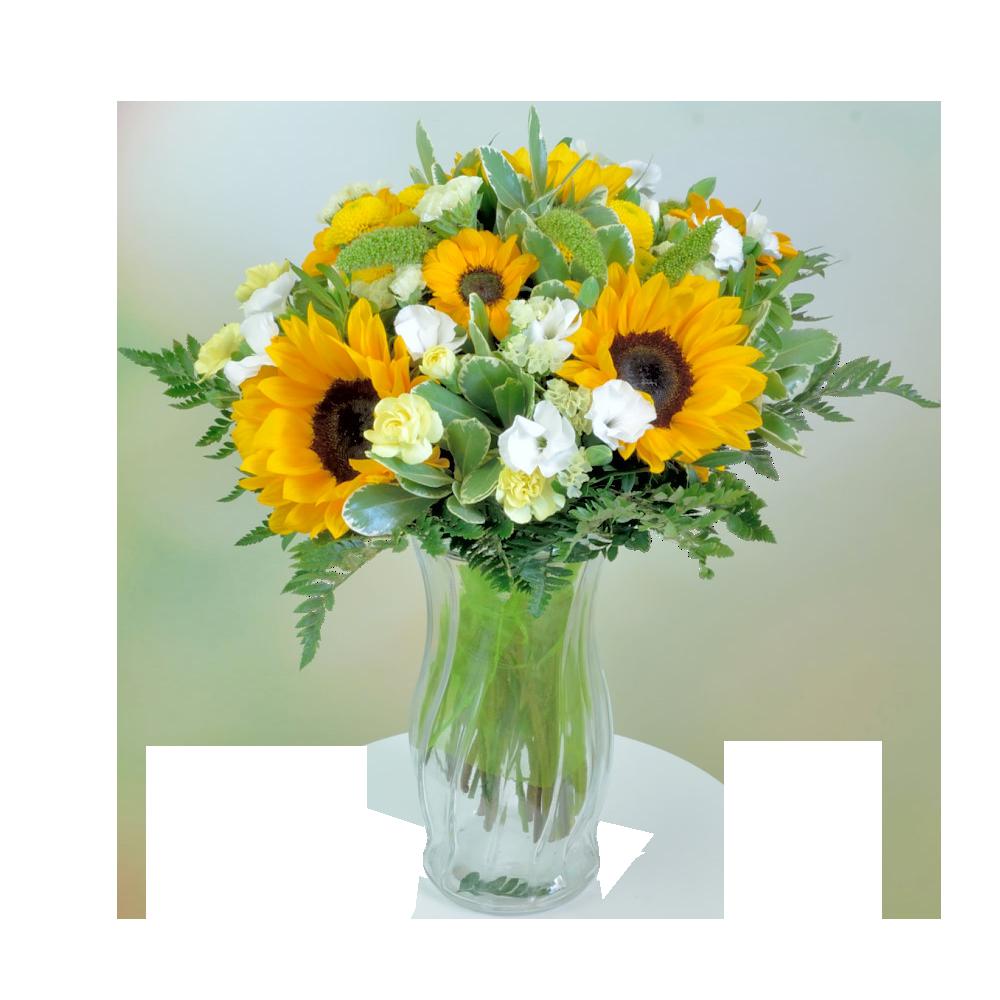 Letná kytica so slnečnicami