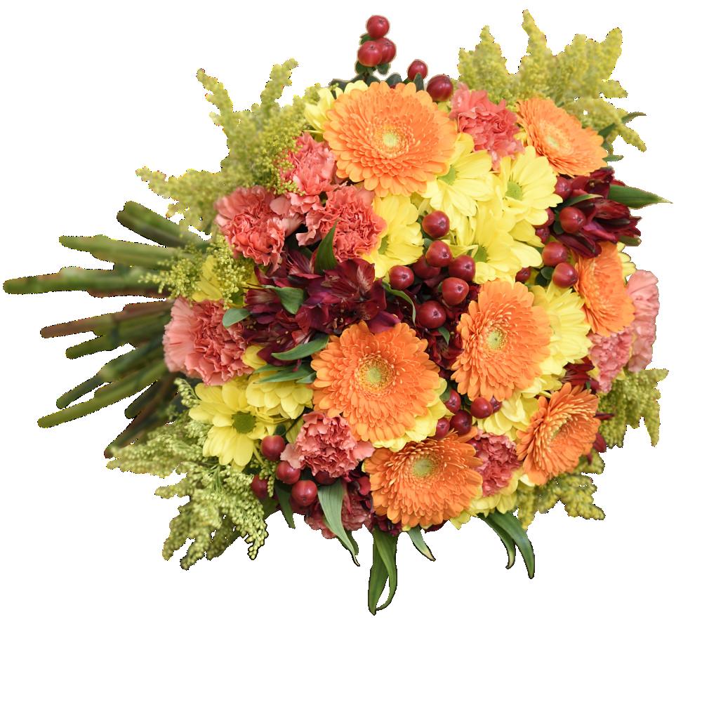 Oranžová jeseň v kytici