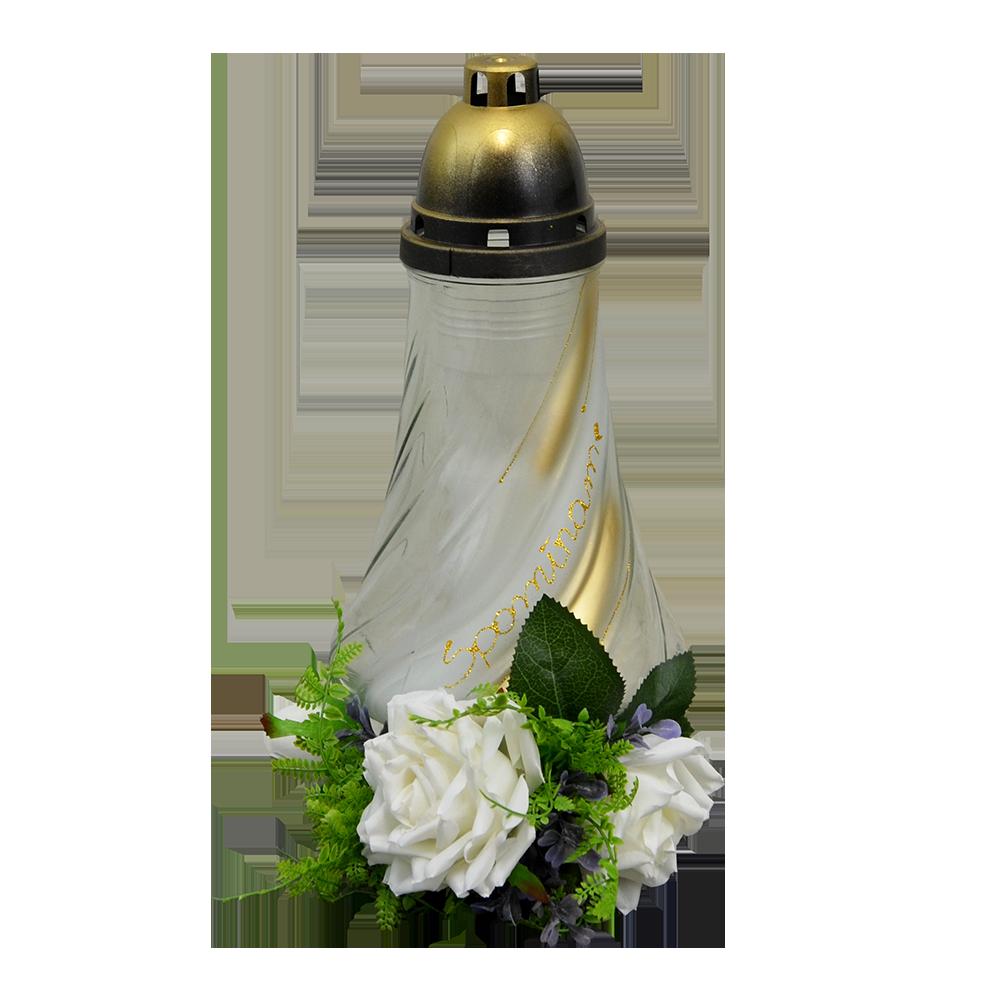 Dušičkový kahanec s ružami
