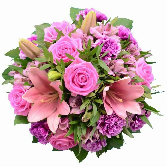 Kytica s ružovými ľaliami a ružami