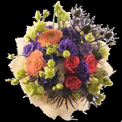 Strapatá kytica z anglických kvetov