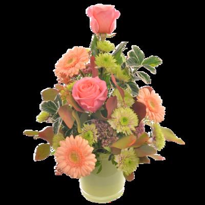 Ružovo-broskyňová kytica