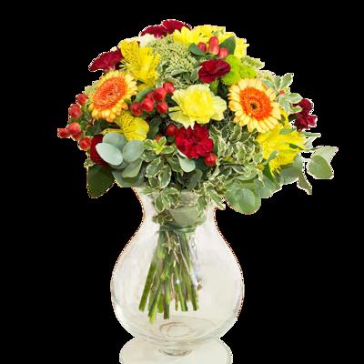 Kytica žltých a červených kvetov