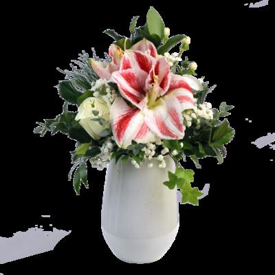 Zimná kytica s amarylisom