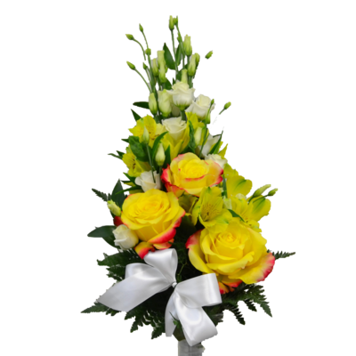Slávnostná žlto-biela kytica