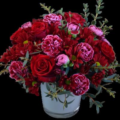 Kytica s červenými ružami