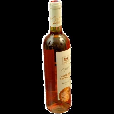 Fľaša ružového vína