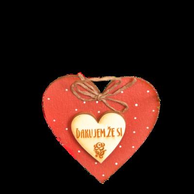 Valentínske srdiečko Ďakujem, že si
