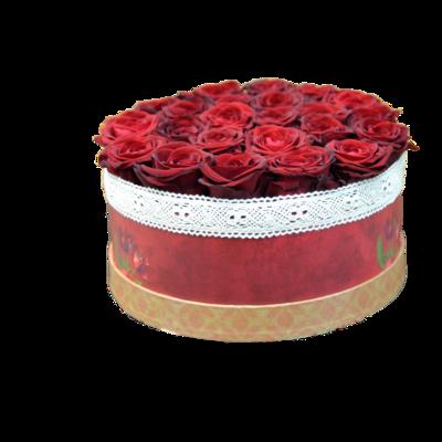 Bordové ruže v darčekovej krabici