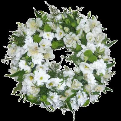Veniec z bielych kvetov